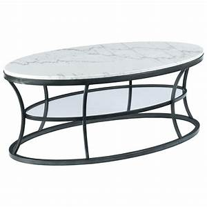hammary impact oval cocktail table with marble top and With marble coffee table with shelf