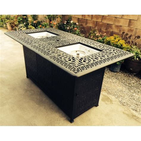 fire pit bar table outdoor propane fire pit bar height double burner table