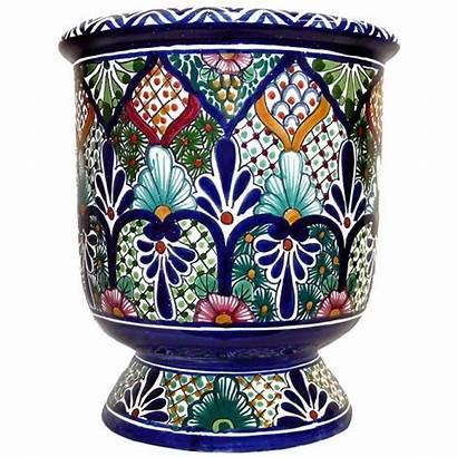 Talavera Mexican Pottery Planters Planter Ceramic Decor