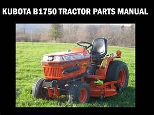 Kubota B1750 Tractor Parts Manuals