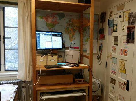 Ikea Ivar Schreibtisch by Ikea Ivar Standing Desk Hack Computer On Keyboard