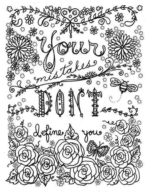 quote coloring pages  adults  teens  coloring