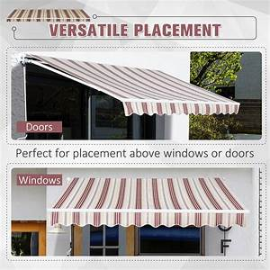 Manual Retractable Patio Awning Window Door Sun Shade