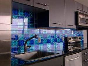 how to creating a holographic checkerboard backsplash hgtv With kitchen colors with white cabinets with holographic sticker paper