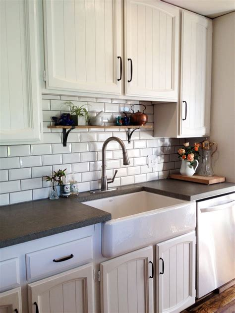 farmhouse kitchen white cabinets black countertops 12 best subway tile images on kitchens white