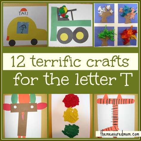 preschool crafts for letter t the measured 679   12 terrific crafts for letter T the measured mom2
