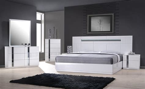 monte carlo queen size white lacquer chrome pc bedroom