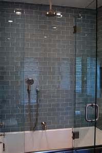 glass tile bathroom ideas gray glass subway tile in fog bank modwalls lush 3x6 modern tile modwalls tile