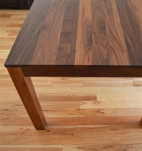 Unfinished Furniture Kitchen Island - custom made solid walnut dining table by fabitecture custommade com
