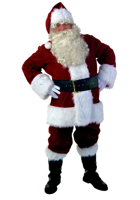 plus size deluxe santa claus costume men s plus size