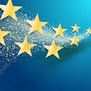 Celebration abstract background with golden stars and ...