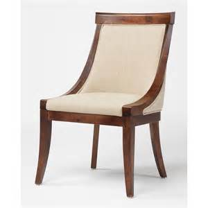 plush dining chair with leather and fabric