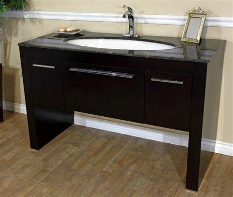 55 Inch Vanity Sink - 55 inch single sink bath vanity in walnut uvbh804380tb55