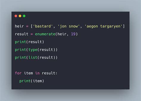 python enumerate  python enumerate function