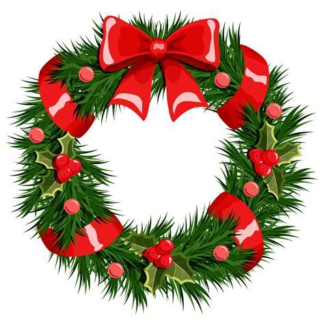 Transparent Christmas Wreath Clip Art