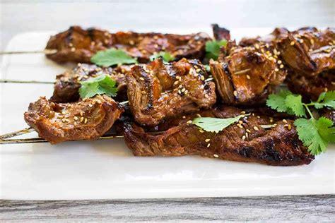 Korean Beef Skewers Recipe Simplyrecipescom