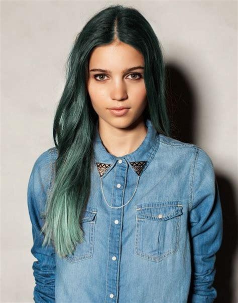 Dark Green Hair Beauty Tips And Ideas Pinterest