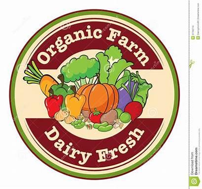 Farm Organic Clipart Fresh Dairy Label Template
