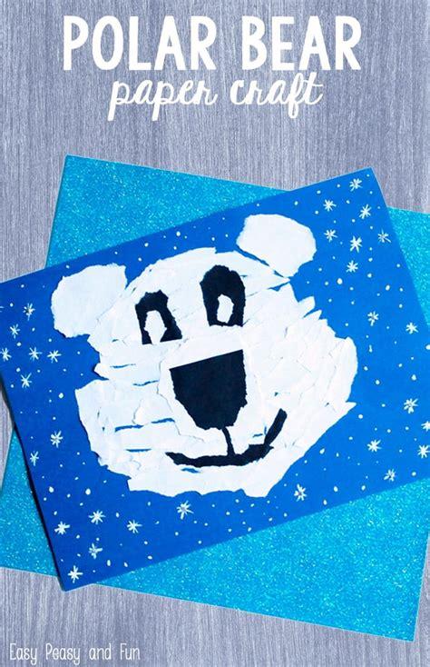 polar bear paper craft easy peasy  fun