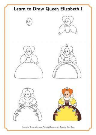 learn  draw queen elizabeth  queen drawing elizabeth  learn  draw