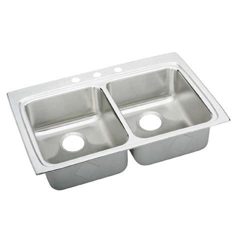 elkay stainless steel kitchen sink elkay lustertone drop in stainless steel 33 in 3 8865