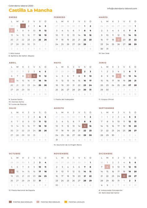 calendario laboral castilla la mancha calendario