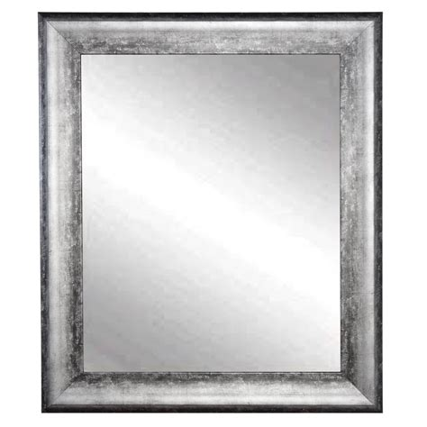 Silver Wall Mirrors Decorative - brandtworks midnight silver decorative framed wall mirror