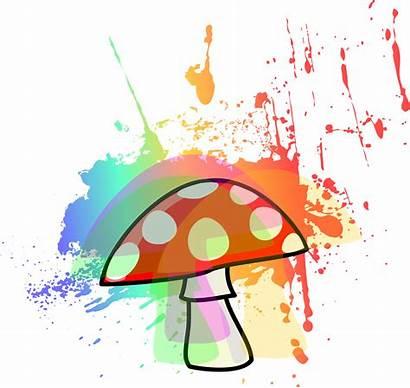 Mushroom Trippy Clipart Transparent Psychedelic Cartoon Mushrooms