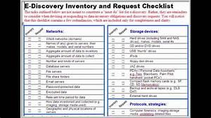 Litigation Response Plan - 16 E-discovery Checklist