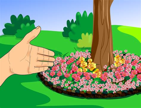 flower beds around trees pictures images