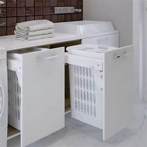Panier A Linge Design : les paniers linge int gr s pour la salle de bain atlantic bain ~ Teatrodelosmanantiales.com Idées de Décoration
