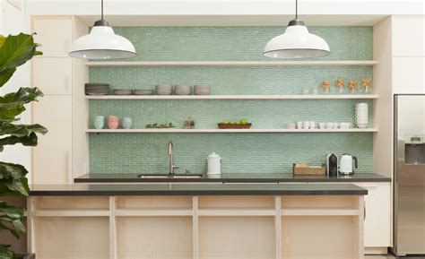 green tile backsplash kitchen green glass subway tiles for kitchen backsplashes