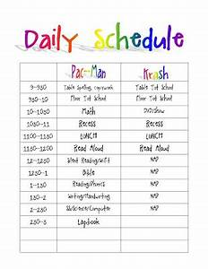 printable daily routine schedule template clipart autism With daily schedule template for students