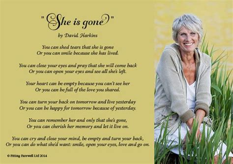 you can shed tears that she is david harkins beautiful poem called she is by david harkins