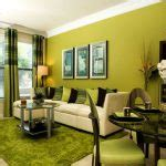 lime green living room design with fresh colors