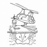 Aircraft Carrier Coloring Transportation Printable Avion Kb Drawing Drawings sketch template
