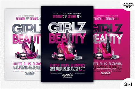 girls beauty flyer template flyer templates creative