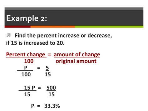 PPT - Percent Change: Percent Increase / Percent Decrease ...