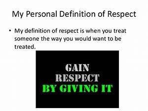 Christians resp... Respect Definition
