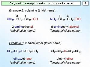 Organic Compounds  Nomenclature