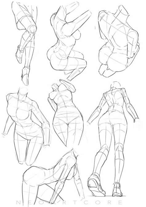body angles ref drawing references   pinterest