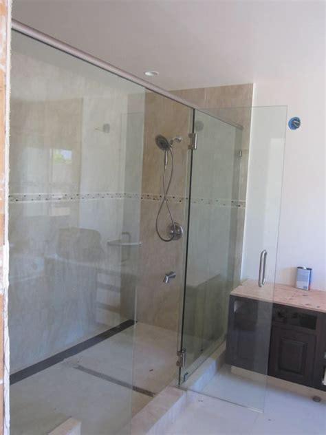 large shower enclosure patriot glass  mirror san