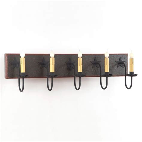 Five Fixture Bathroom by Large 5 Arm Vanity Light Primitive Country Wall