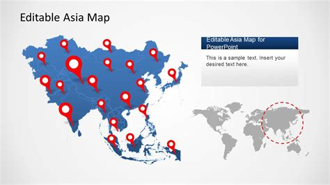 powerpoint map templates asia map template for powerpoint slidemodel