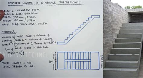 stair calculation formula staircase estimate