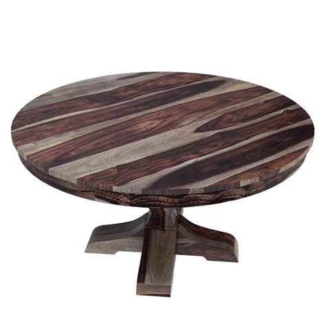 solid wood round dining table hosford handcrafted solid wood 60 quot round pedestal dining table
