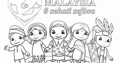 Mewarna Malaysia Gambar Hari Merdeka Poster Kemerdekaan