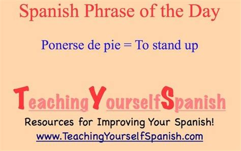 Standing Board by Pin By Teaching Yourself Spanish On Spanish Phrases