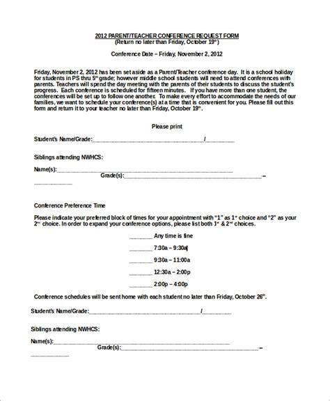 parentteacher conference confirmation letter template