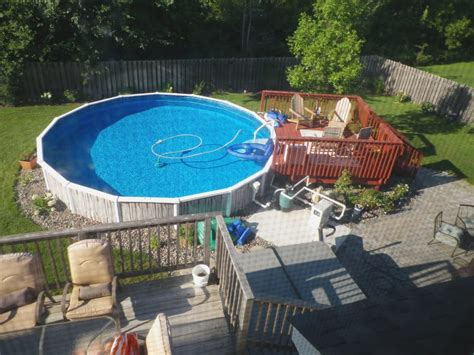 Cool Above Ground Pool Landscaping For